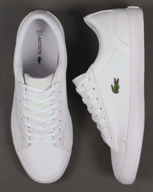 Lacoste Lerond Leather Trainer - White