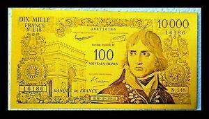 """★★ Billet Polymer """" Or """" Du 100 / 10000 Francs Napoleon ● Destockage ★★ Ref2 Vpavmutg-07224757-989277960"""
