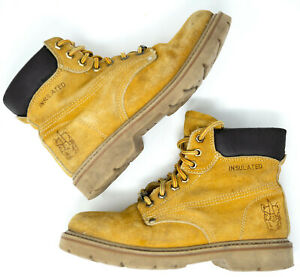 RHINO-Work-Boot-6-5-Fashion-Hiking-Boot-Outdoor-Ankle-Boot-Tan-Suede-Insulated