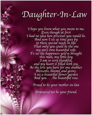 Various Ages Personalised Birthday Card A  Mother in Law  Poem