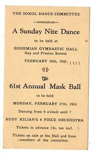 1933-MASK-BALL-DANCE-SOKOL-COMMITTEE-BOHEMIAN-GYMNASTIC-HALL-BALTIMORE-MD-ESSEX