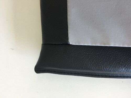 echt Leder schwarz Sitzkissen Stuhlkissen Auflage Gelschaum 35x35 cm Antirutsch