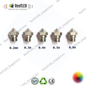 MK10 3D Printer Extruder Nozzle J-Head Steel Nozzle 0.2,0.3,0.4,0.5,0.6,0.8mm UK