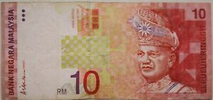 RM10 Ali Abul Hassan side sign Note BX 0576370