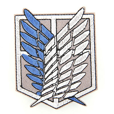 Anime Shingeki no Kyojin Attack on Titan Scouting Legion Logo Emblem Patch Badge