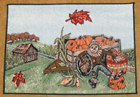Harvest Ii Scarecrow & Pumpkins Tapestry Placemat