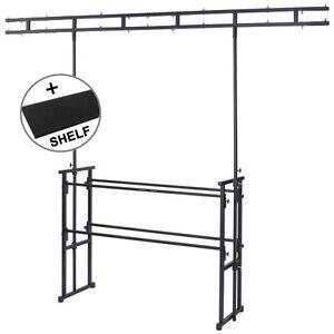 Gorilla-gds-5-4ft-DISCO-DJ-Cabine-STAND-DOUBLE-BARRE-plateforme-eclairage-inclus