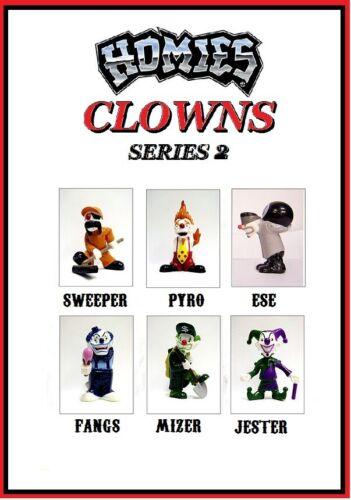 Homies clowns Série 2-6 Figures Set avec Gray ESE