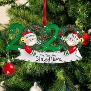 Blank DIY Name Fillable Christmas Tree Ornament 2020 Quarantine Family Xmas Gift | eBay