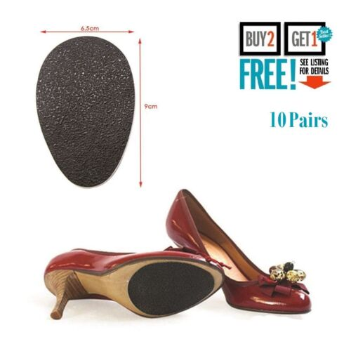 10 Pairs Self-Adhesive Anti-Slip Stick on Shoe Grip Pads Non-slip Sole Protector