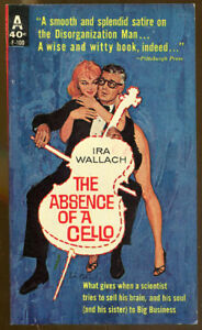 The-Absence-of-a-Cello-by-Ira-Wallach-Vintage-Avon-Paperback-1962