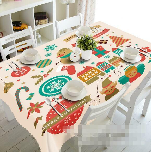 3D Xmas Pattern 4 Tablecloth Table Cover Cloth Birthday Party Event AJ WALLPAPER