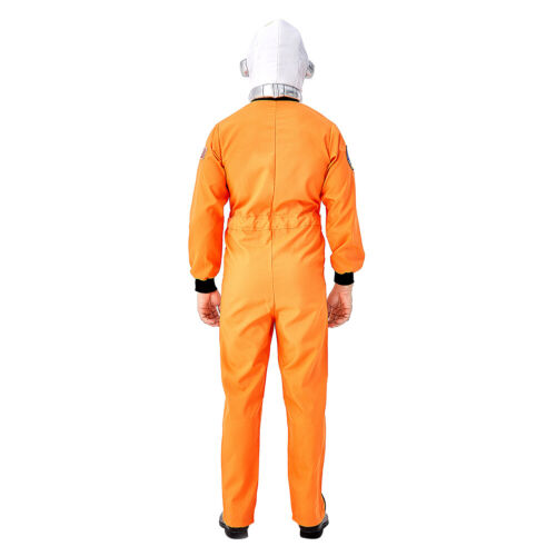 Cosplay Astronaut Space Suit Hat Costume White Orange Suit Halloween Outfit