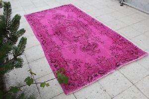 FREE-SHIPPING-Vintage-Handmade-Turkish-Oushak-Overdyed-Area-Rug-7-039-3-034-x4-039-1-034