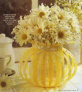Fancy basket flower vase plastic canvas pattern instructions ebay image is loading fancy basket flower vase plastic canvas pattern instructions mightylinksfo