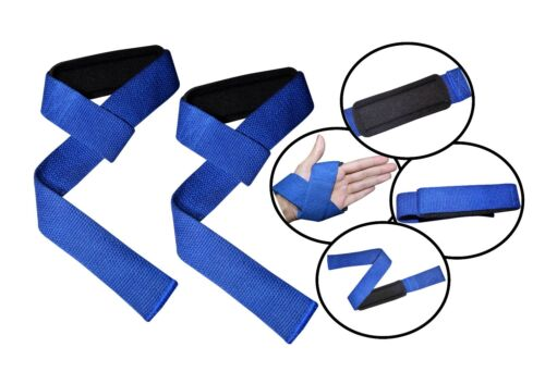 PRIME SPORTS NEOPRENE PADDED WEIGHT LIFTING GYM TRAINING HAND BAR STRAPS SUPPORT