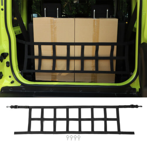 Black Rear Trunk Cargo Shielded Isolation Net Cover For Suzuki Jimny 2019-2020