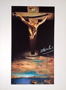 SALVADOR-DALI-HAND-SIGNED-CHRIST-OF-SAINT-JOHN-OF-THE-CROSS-COLORPLATE