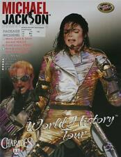 MICHAEL JACKSON Mens World History Tour GOLD JACKET and PANTS Costume Set S New