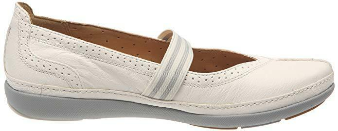 Nuovo Nuovo Nuovo Clarks Unstructured un Bethany Bianco shoes Slip-On di pelle 6.5 cf3768
