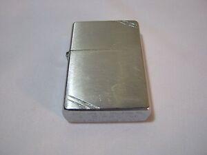 Vintage Zippo Lighter Flat Bottom G 05 Pat 2032695 Diagonal Lines 5 Barrel T Ebay