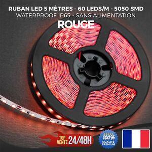 Ruban-LED-Bande-Strip-5050-SMD-300-LED-Etanche-IP65-5-metres-Rouge