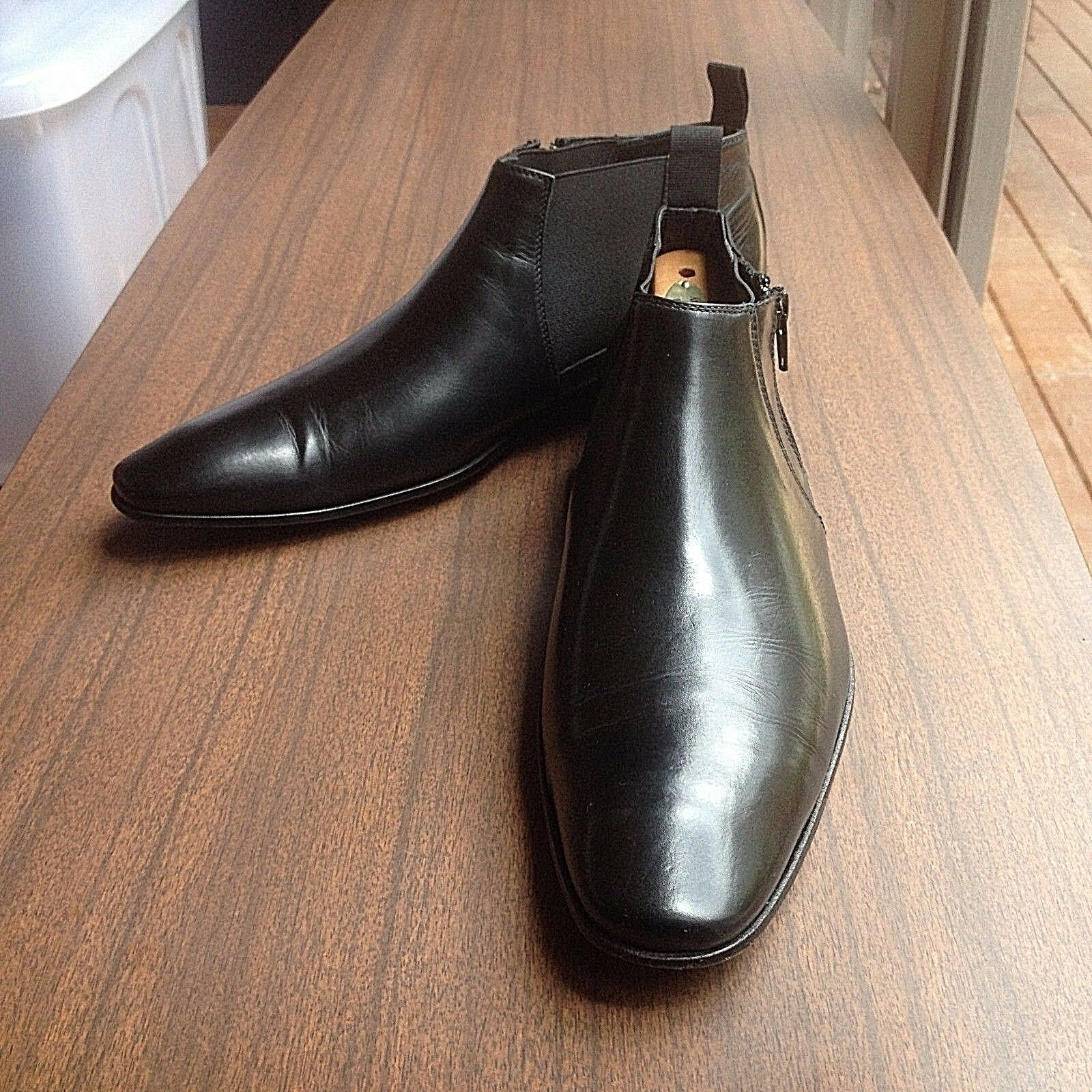 DOUCALS Uomo LEATHER BOOTS SIZE 41 MADE IN ITALY