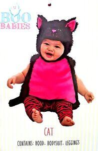 a2b2941a5f9 Boo Babies Lil Pink   Black Cat 3 Piece Halloween Costume Infant 9 ...