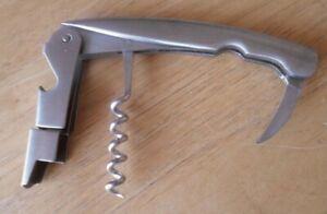 ONEIDA-Barware-Deluxe-Stainless-Steel-Waiter-039-s-Corkscrew-Foil-Cutter-7207-Bar
