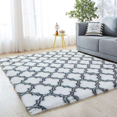 Large Shaggy Area Rugs Fluffy Tie-Dye Floor Soft Carpet Living Room Bedroom Rug