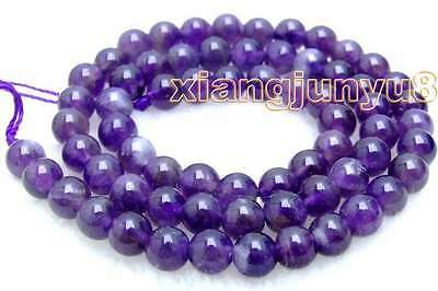 """SALE Small 6mm Round Natural High quality Amethyst beads strand 15"""" -los491"""