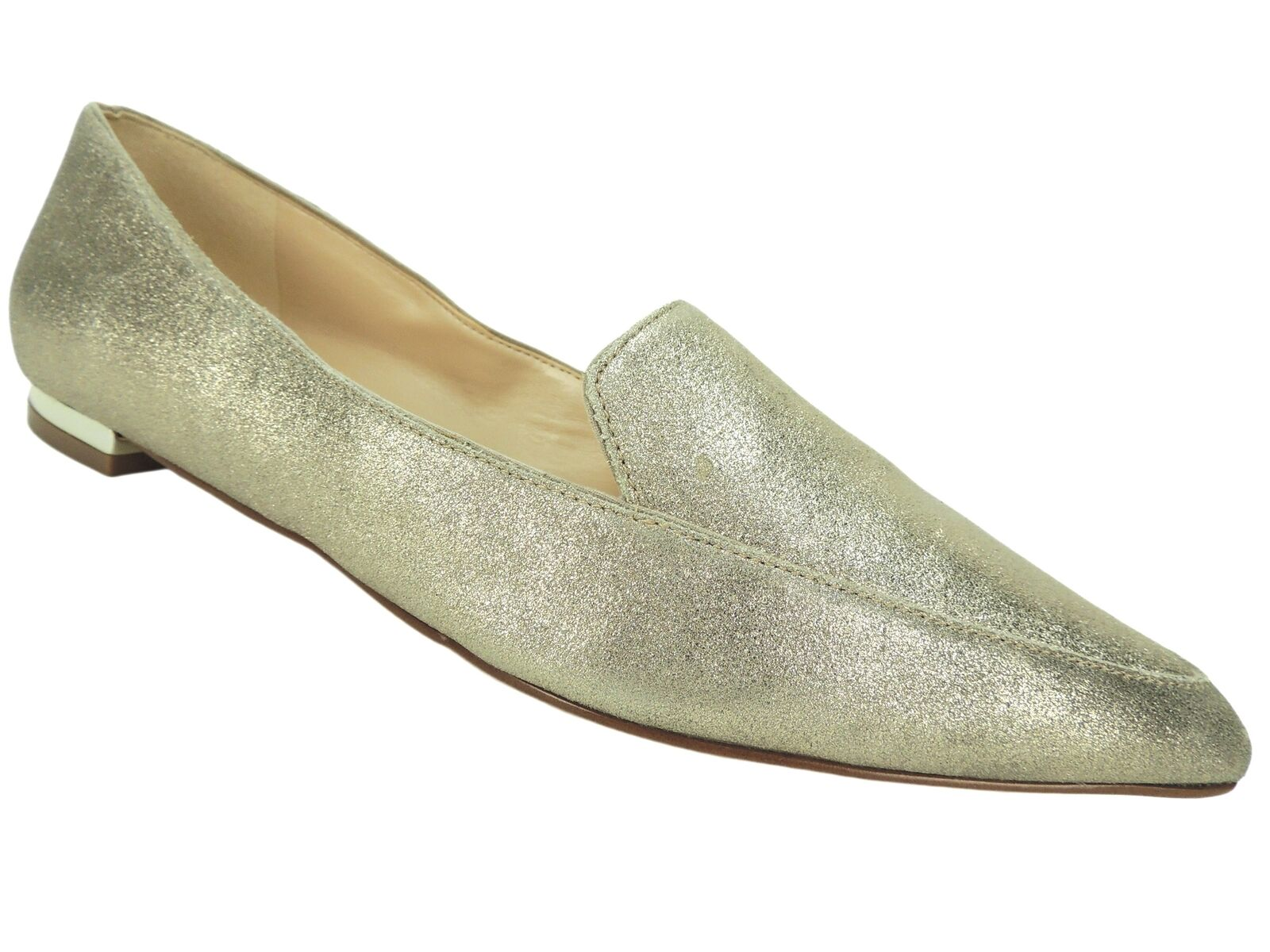 Nine West Women's Abay Pointed-Toe Flats Gold Metallic Metallic Gold Size 9 M 23636a