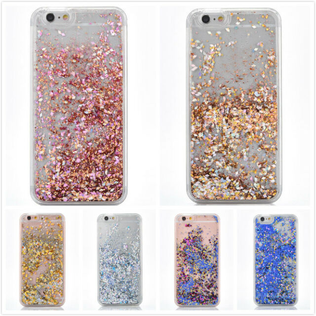 Shockproof Diamod Glitter Star Liquid Back Case Cover For Apple iPhone 7 8 Plus