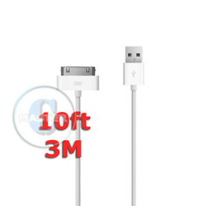 EXTRA-LONG-3m-10ft-CHARGE-SYNC-USB-CABLE-FOR-APPLE-iPHONE-4s-4-3Gs-3G-iPAD-3-2-1