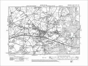 Bracknell Bullbrook Wick Hill old map Berkshire 1913 39SW eBay