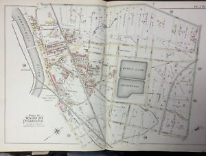 ORIG 1895 POWELTON VILLAGE FAIRMOUTH PARK /& RESERVOIR PHILADELPHIA PA ATLAS MAP