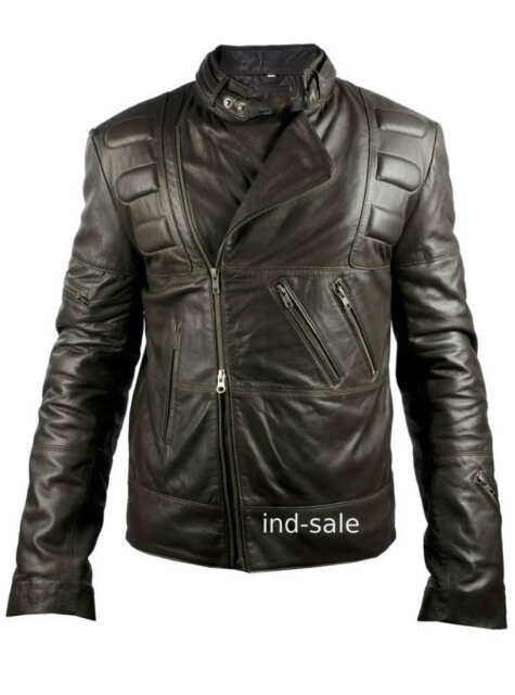 Stylish Custom Tailor Made All Sizes Brown Leather Jacket Handcrafted Biker