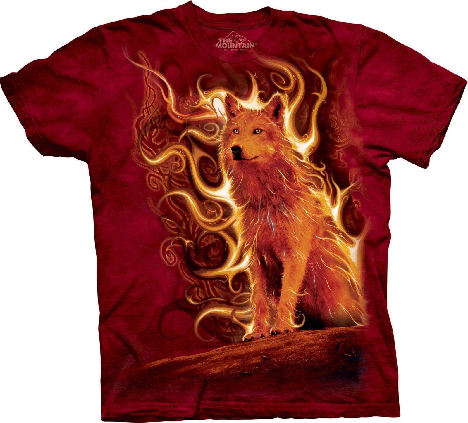 Phoenix Wolf Wolf T Shirt Adult Unisex The Mountain