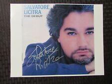 SALVATORE LICITRA Signed Autograph 8.5x11 Photo VF 8.0 w/ COA Opera The Debut