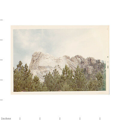 Old Color Photo MT RUSHMORE LANDSCAPE 1971
