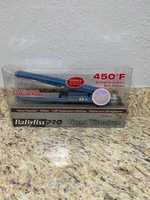 BaByliss PRO 1 1/4 Inch Nano Titanium 450F Straightening Hair Iron - BABNT2091T