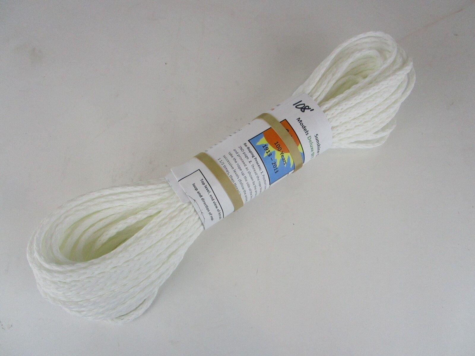 108 feet 3 16 inch diameter polyethylene UV resistance rope Sunshine Clothesline