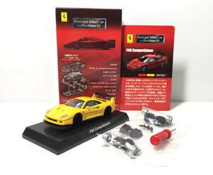 Kyosho-1-64-Ferrari-F40-automovil-modelo-automovil-de-fundicion-Amarillo-Nuevo