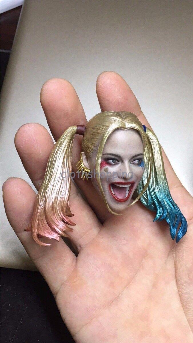 1 6 Harley Quinn Female Joker Head Sculpt Sculpt Sculpt Figure Model For 12'' Body Hot Toys 4132e6
