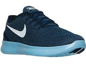 New-Men-039-s-Nike-Free-RN-Running-Training-Shoes-Sz-13-Blue-831508-405