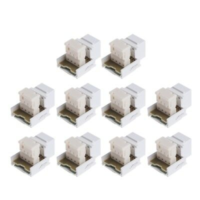 White RJ11 6P4C Headset Telephone Module Keystone Jack Socket Phone module/%/%