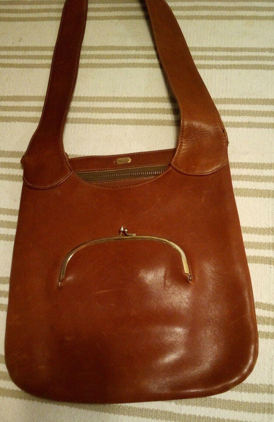 bonnie cashin for Meyers brown Saddle Bag, Vintage - image 1