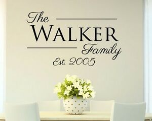 Personalized-Custom-Family-Name-Vinyl-Wall-Decal-Home-Decor-Sticker-Year-Date