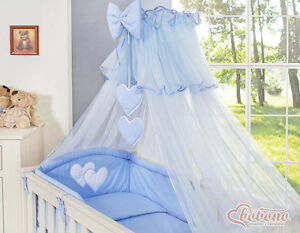 bobono baby bettset himmel bettw sche nestchen f r babybett herzchen blau 6 10 t ebay. Black Bedroom Furniture Sets. Home Design Ideas