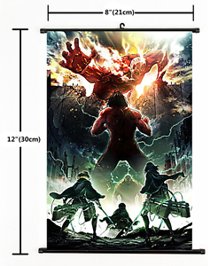 071 HOT Anime Attack on Titan Wall Poster Scroll Home Decor Cosplay